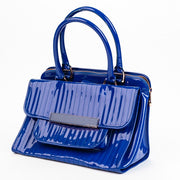 Vintage Royal blue Ted Baker London 'Mardun' Satchel Bag quilted patent retro candy vintage