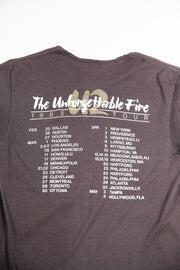 Vintage U2 The Unforgettable Fire 1985 Concert Tour Women's T-Shirt from retro candy vintage