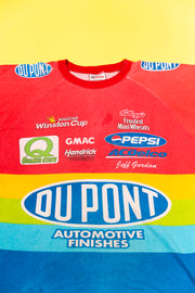 Vintage 1997 Jeff Gordon Dupont All Over Print T-shirt from retro candy
