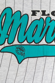 Vintage 90's Florida Marlins Pinstriped T-shirt