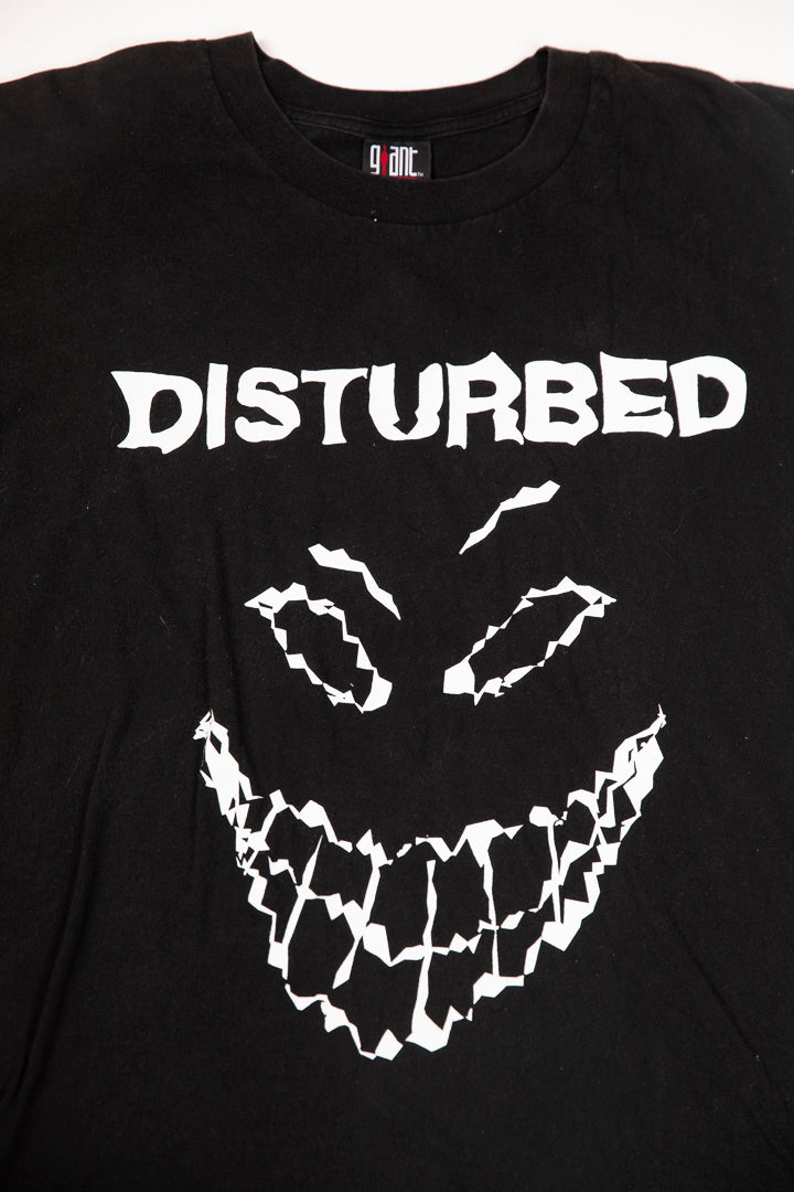 Vintage Y2K Disturbed Glow In The Dark T-shirt Authentic Giant tag from retro candy