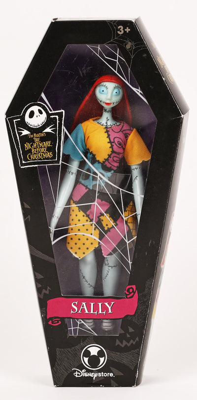 "Vintage Tim Burton's The Nightmare Before Christmas Sally In Casket 10"" Poseable Doll"