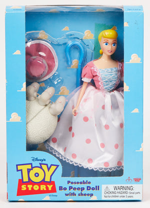 Vintage 1995 Toy Story Poseable Bo Peep Doll with Sheep