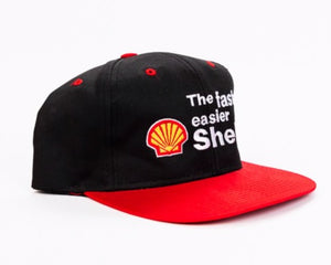 Vintage 90's The Faster, Easier Shell Gas Snapback Hat Retro Candy Vintage