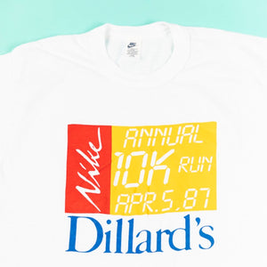 Vintage 1987 Nike Annual 10K Run Dillard's T-shirt from retro candy