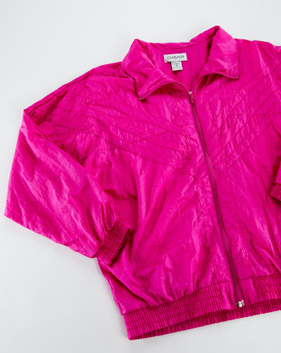 Vintage pink 80's Chaver Windbreaker from Retro Candy
