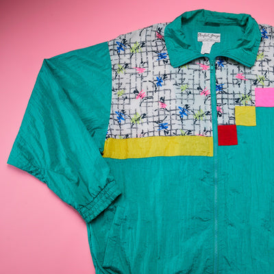 Vintage 80's Perfect Image Windbreaker Jacket from Retro Candy