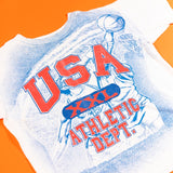Vintage 90's USA Athletic Dept. All Over Print T-shirt single stitch from retro candy