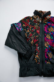 Vintage Pelle Leather Bomber Jacket flowers from Retro Candy