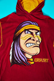Vintage 90s Florida State Osceola Hooded T-shirt