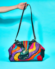 80s Retro Colorblock Purse