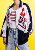 Authentic Vintage 90's Lauren Brooke USA America Windbreaker Jacket for sale by retro candy vintage