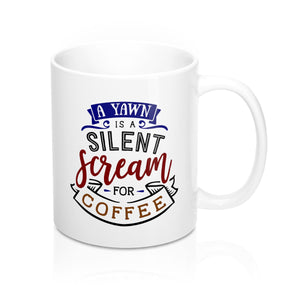 yawn silent cream for coffee mug ceramic