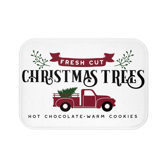 Christmas Tree Truck Bath Mat