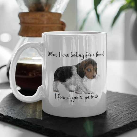 Beagle mug ceramic looking for a friend found your paw