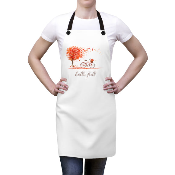 Hello Fall (Bicycle) Apron