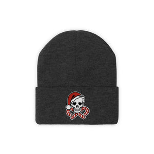 holiday beanie skull crossbones