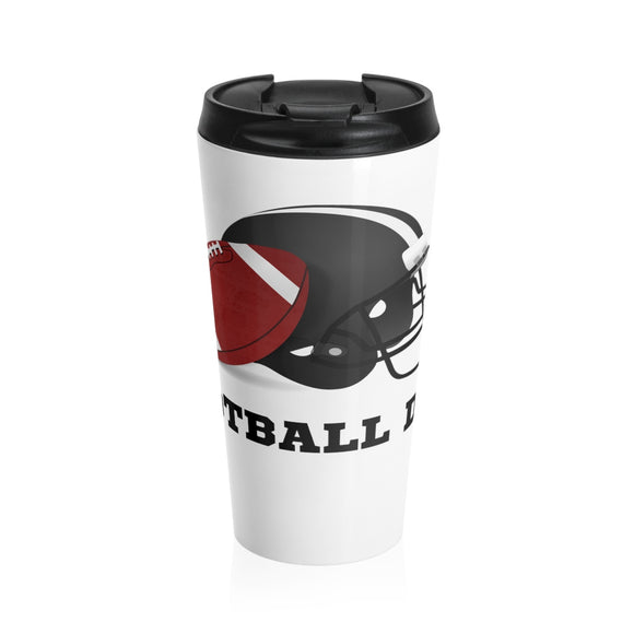 Football Dad Stainless Steel Travel Mug