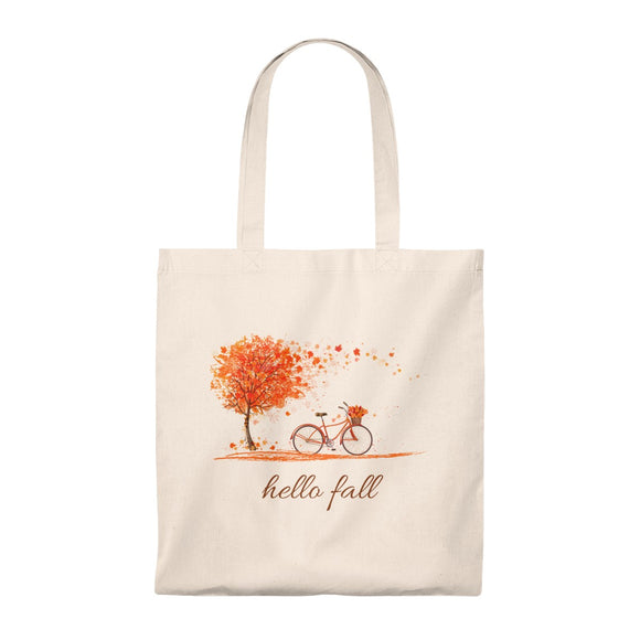 Hello Fall (Bicycle) Tote Bag