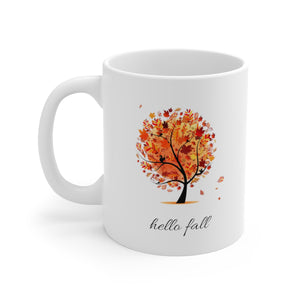 Hello fall autumn mug