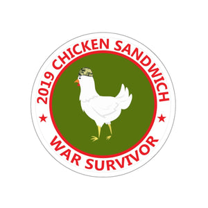 Chicken Sandwich War Kiss-Cut Stickers