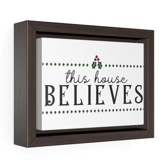 this house believes christmas canvas wrap print