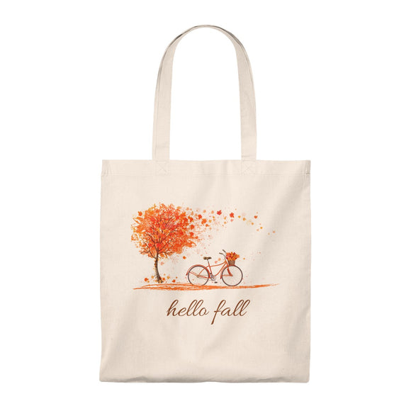 Hello Fall (Bicycle) Vintage Style Tote Bag