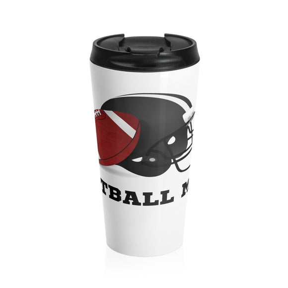 Football Mom Stainless Steel Travel Mug