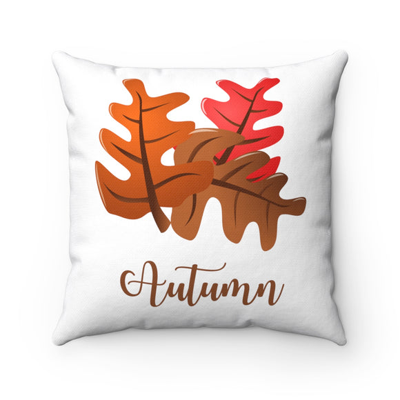 Autumn Spun Polyester Square Pillow