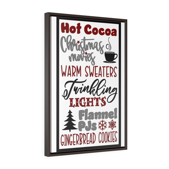 Hot Cocoa and More Framed Canvas Wrap