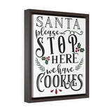 Santa Stop HereFramed Canvas Wrap