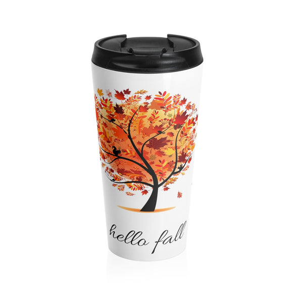 Hello Fall Stainless Steel Travel Mug
