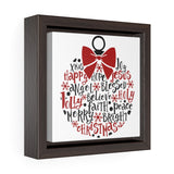 Christmas Word Globe Framed Canvas Wrap