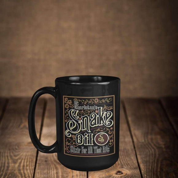 Snake Oil 15 oz ceramic mug black