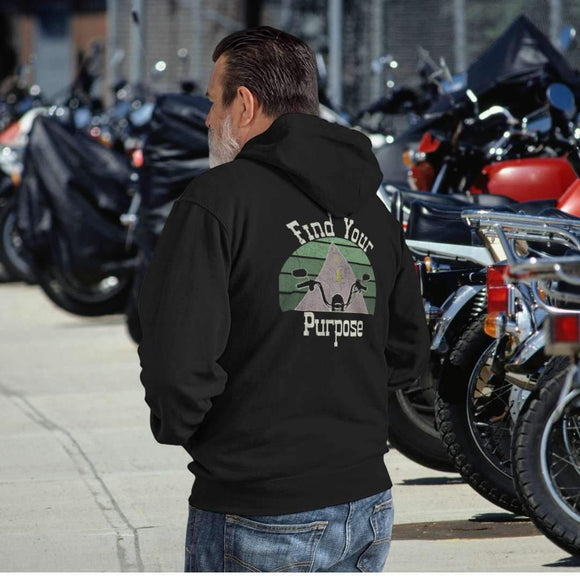 Find Your Purpose Motorcycle Hooded Sweatshirt Hoodie