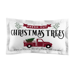 Christmas Tree Truck Pillow Sham