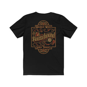 Boozehound vintage Victorian old-timey alcohol funny t-shirt tee