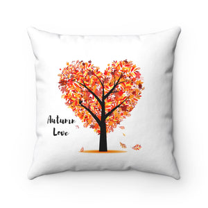 Autumn Love Square Polyester Pillow