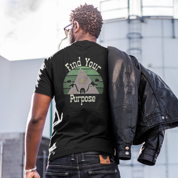 Find Your Purpose Motorcycle T-Shirt Tee