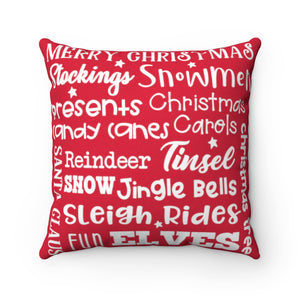 Christmas Collage Pillow (Red)