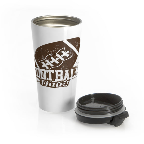 Football Time Stainless Steel Travel Mug
