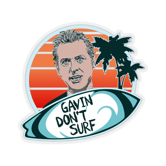 Gavin Don't Surf Stickers