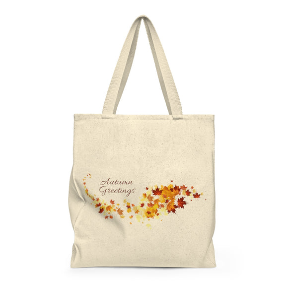 Autumn Greetings Shoulder Tote Bag - Roomy