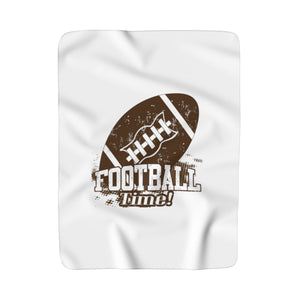 Football Time Sherpa Fleece Blanket