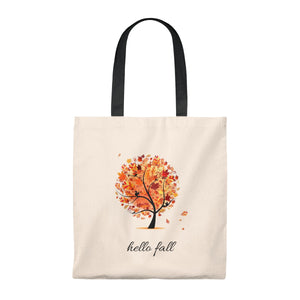 Hello Fall (Vintage Style Tote Bag)