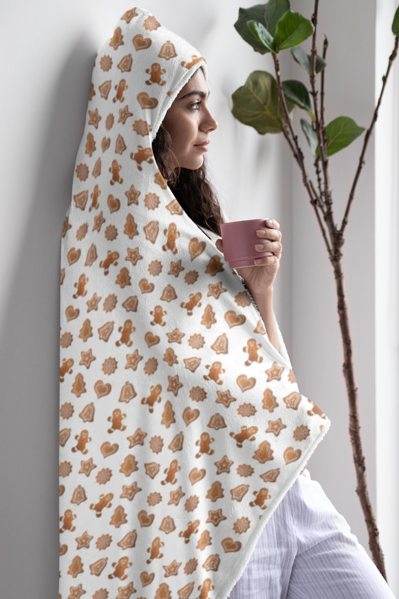 gingerbread cookies hooded blanket