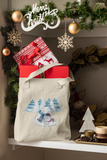 cuddling polar bears christmas bag
