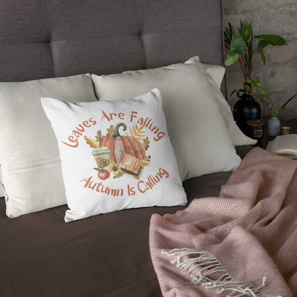 Leaves are Falling Autumn is Calling Fall decorative pillow decoration