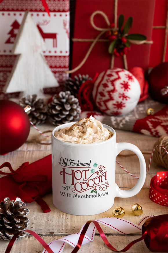 Old Fashioned Hot Cocoa With Marshmallows Ceramic Mug