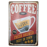 Retro Style Metal Cafe Signs